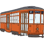 Milan streetcar vector drawing