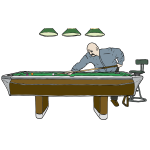 Pool Table with Player