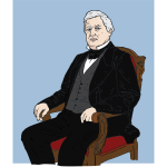 Millard Fillmore vector drawing