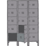 Vector image of lockers