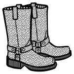 Image of spotty boots