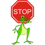 Stop 02 Sign And Frog