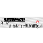 Stop ACTA protest sign