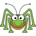 Cartoon grasshopper