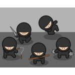 Cartoon ninjas