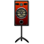 Studio speaker on a stand vector image