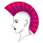 Vector graphics of stylized punk