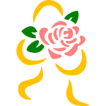 Stylized rose silhouette