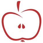 Stylized apple