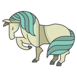 Stylized Cartoon Horse