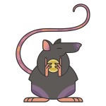 Stylized Cartoon Rat