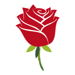 Stylized red rose
