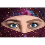 Woman's eyes image