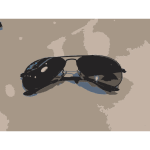 Photorealistic vector clip art of fashion eyewear