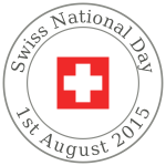 Image of Swiss National Day round sign