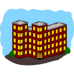 Vector graphics of an apartment building