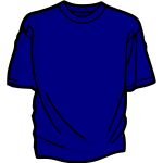Outlined blue shirt