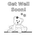 Teddy Bears black white