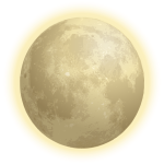 Planet Moon with halo vector illustration