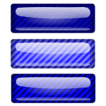 Three stripped dark blue rectangles vector clip art