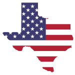 Texas American Flag Map No Stroke