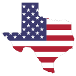 Texas American Flag Map