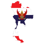 Thai's map and flag