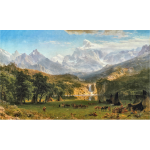 The Rocky Mountains Landers Peak By Albert Bierstadt Contrast Enhanced
