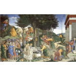 The Trials of Moses By Botticelli