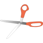 scissors wide open