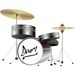 Drum Kit Vector Graphics
