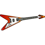 Flying V guitar vector