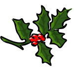 Vector clip art of holly branch