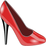 Red high-heel shoe vector image
