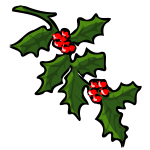 Holly tree for Xmas vector
