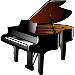 Piano vector drawing