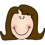 Long haired woman smiling vector image