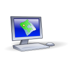 Vector graphics of mapping client computer