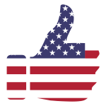 Thumbs Up American Flag