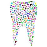 Tooth Silhouette With Pattern