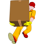 Heavy parcel delivery vector clip art