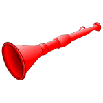 Vector graphics of red horn whistle
