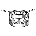 Vector image of simple drum