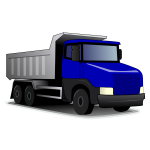Vector illustration of tipper truck