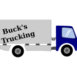 Vector image of removals truck
