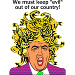 Trump Medusa Evil path