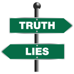 Truth and lies vector image