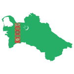 Turkmenistan Map Flag