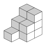Isometric cubes vector image