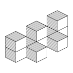 Isometric cubes wall